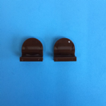 BROWN PLEATED BLIND FINGER TAB HANDLES 1 X PAIR